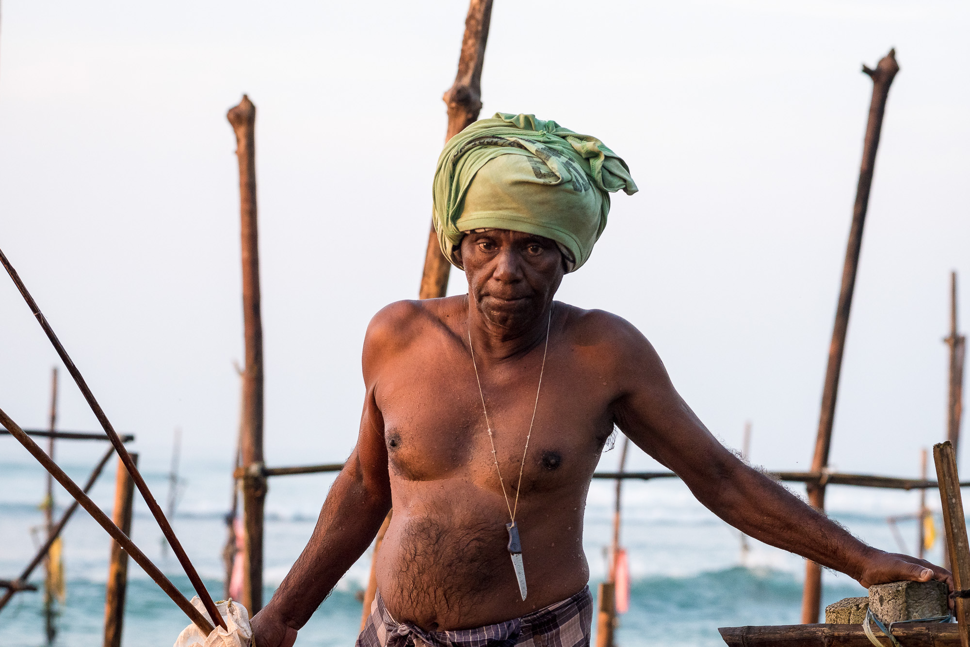 Fisherman, Ahangama beach