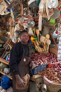 Seller, Musoma market, lake Victoria