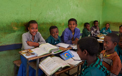 School children, Lalibela