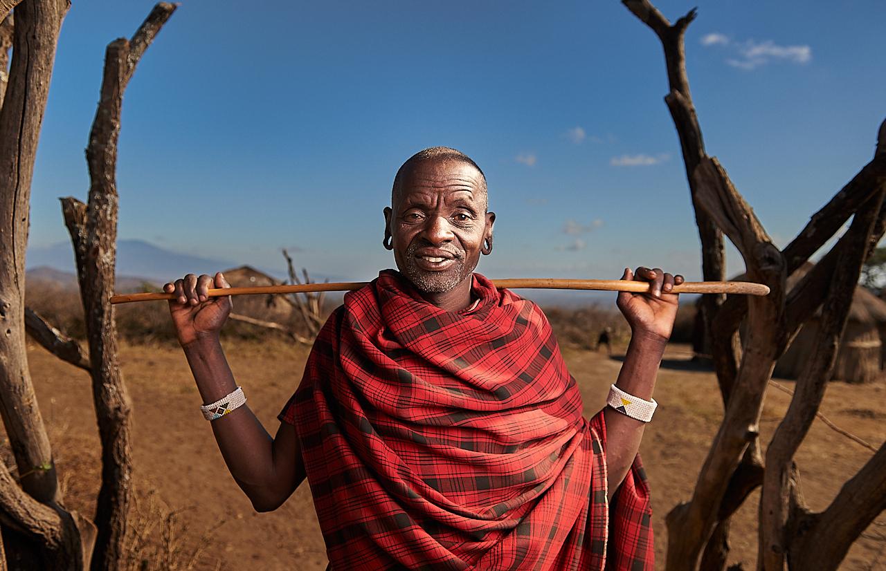 Maasai man, Monduli Juu