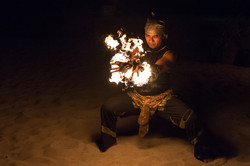 Fire dancer, Jimbaran beach