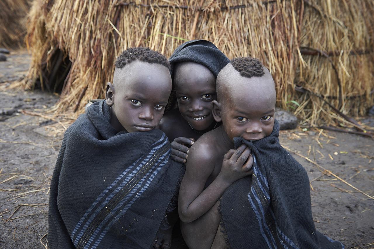 Mursi children