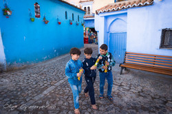 Children in Chefchaouen