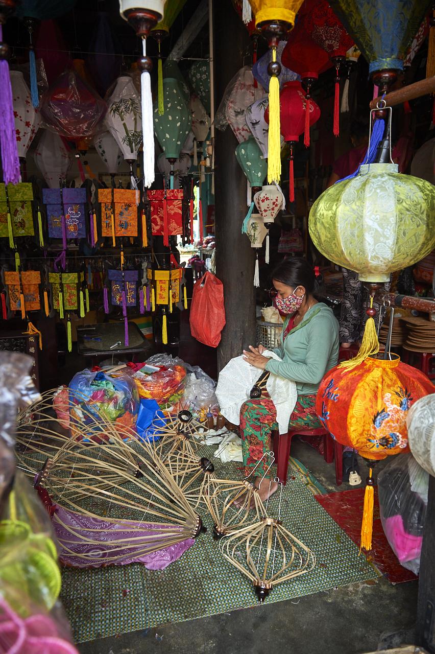Making lanterns, Hoi An
