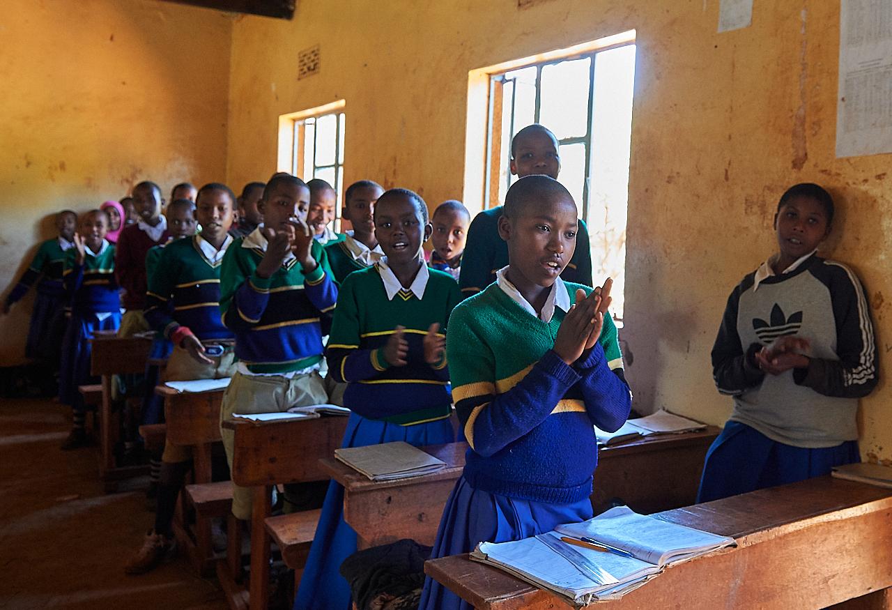 6th grade students, Arusha