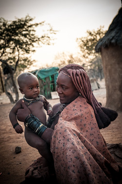 Himba mother with baby
