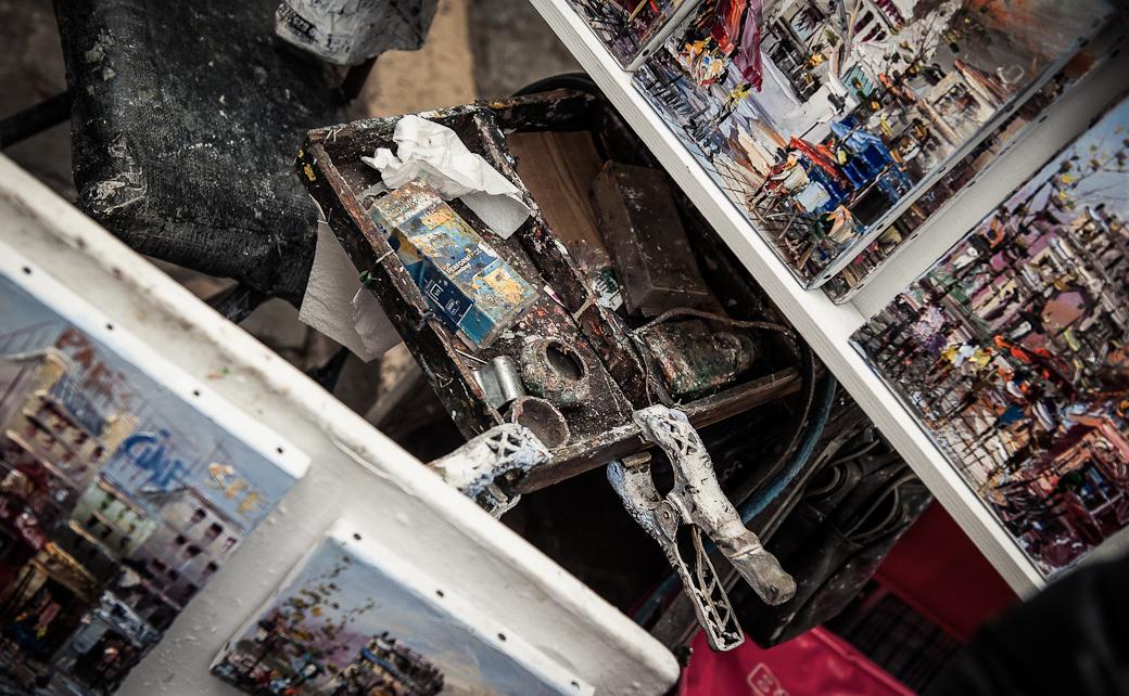 Artist's stall, Montmartre