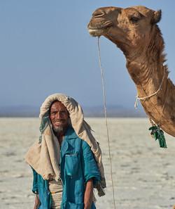 Afar camel puller