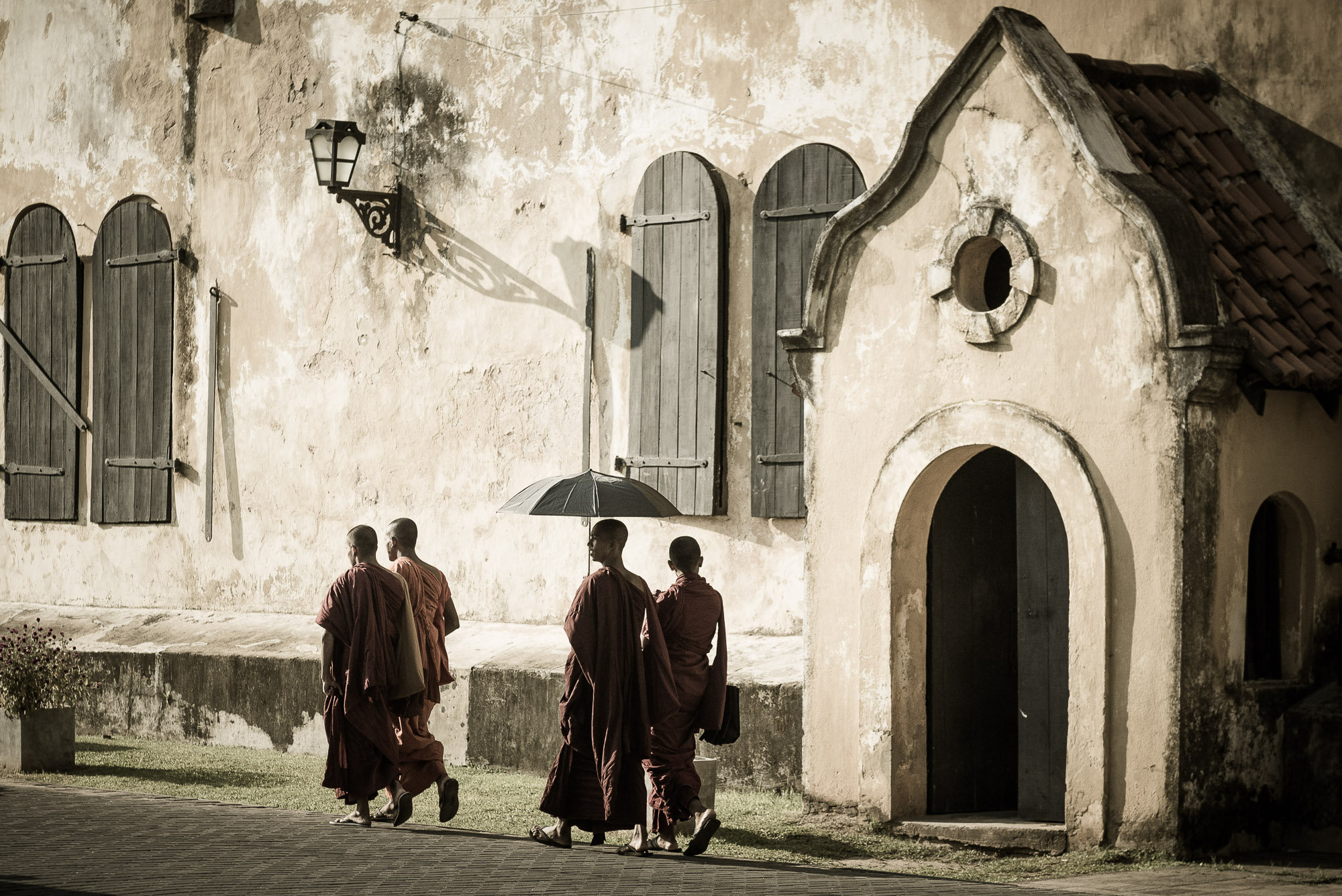 Monks in Galle, Sri Lanka
