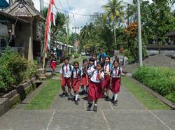 Students in uniform, Penglipuran