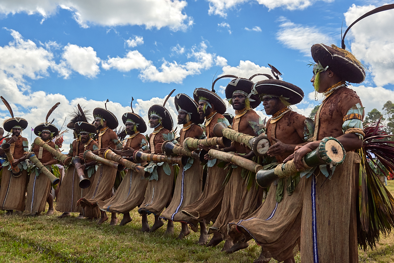 Suli muli men, Mount Hagen show