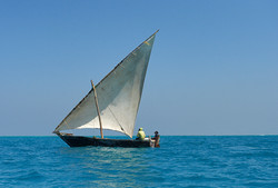 Sailing boat, out of Stonetown