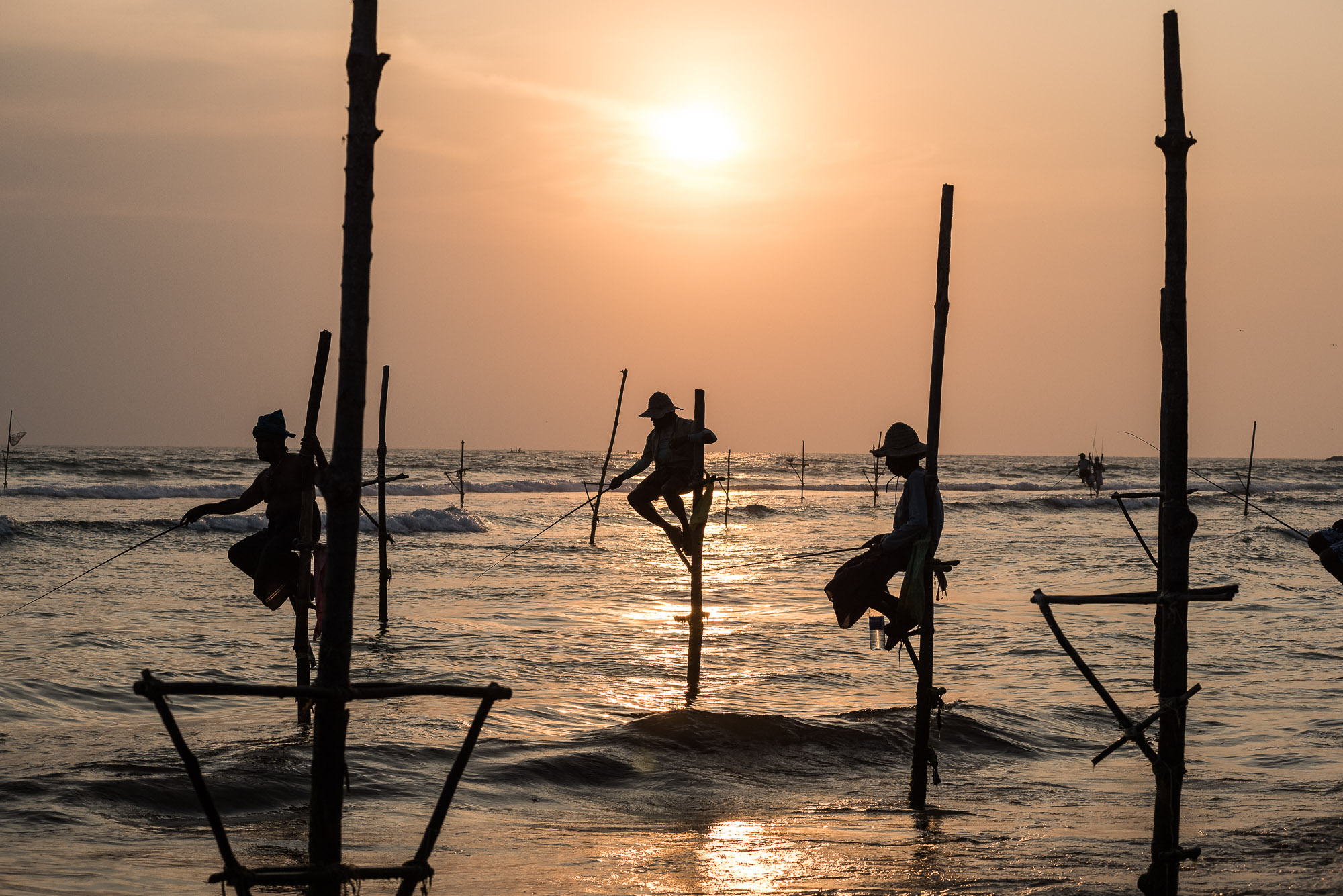 Stilt-fishermen, Sri Lanka