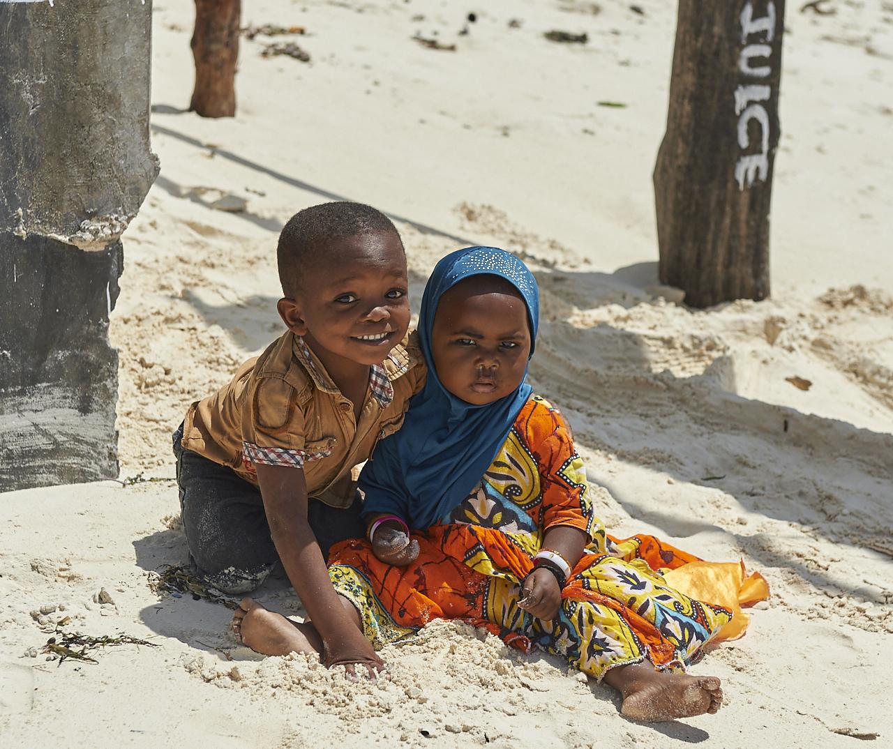 Kids playing, Jambiani beach