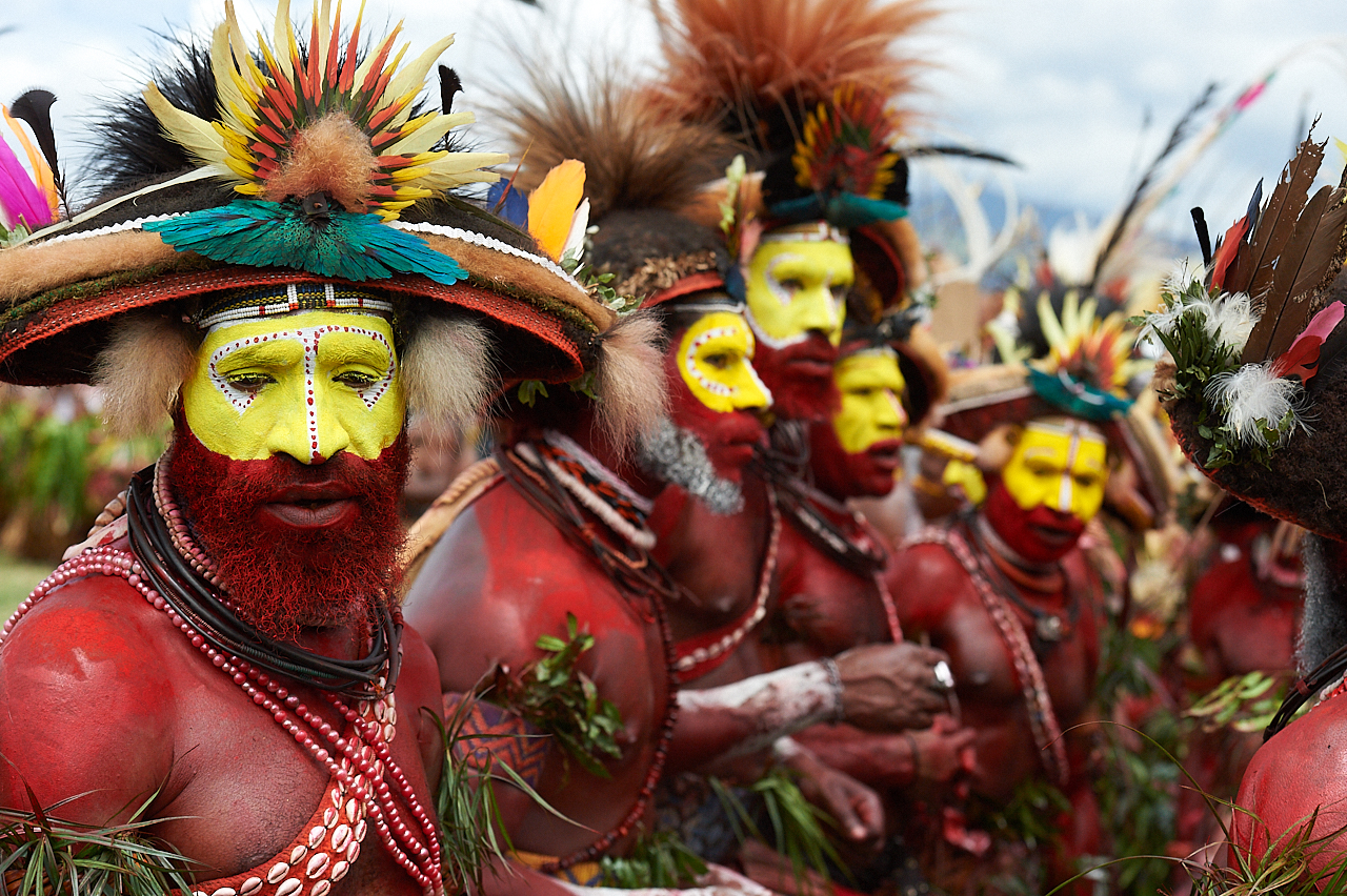 Huli men, Mount Hagen show