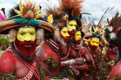 Huli men, Mount Hagen show