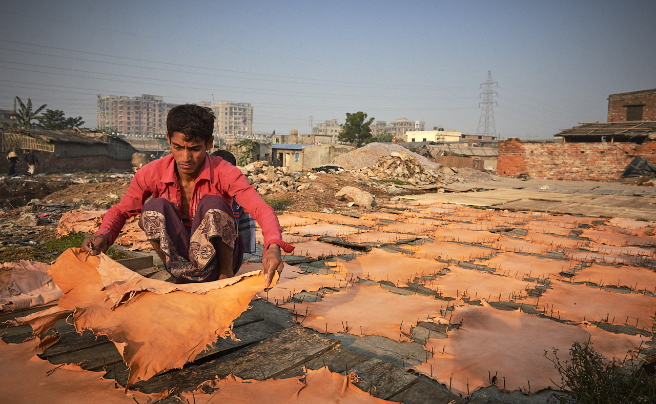 Leather worker, Dhaka