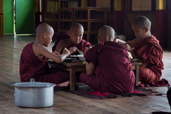 Novices have lunch at monastery