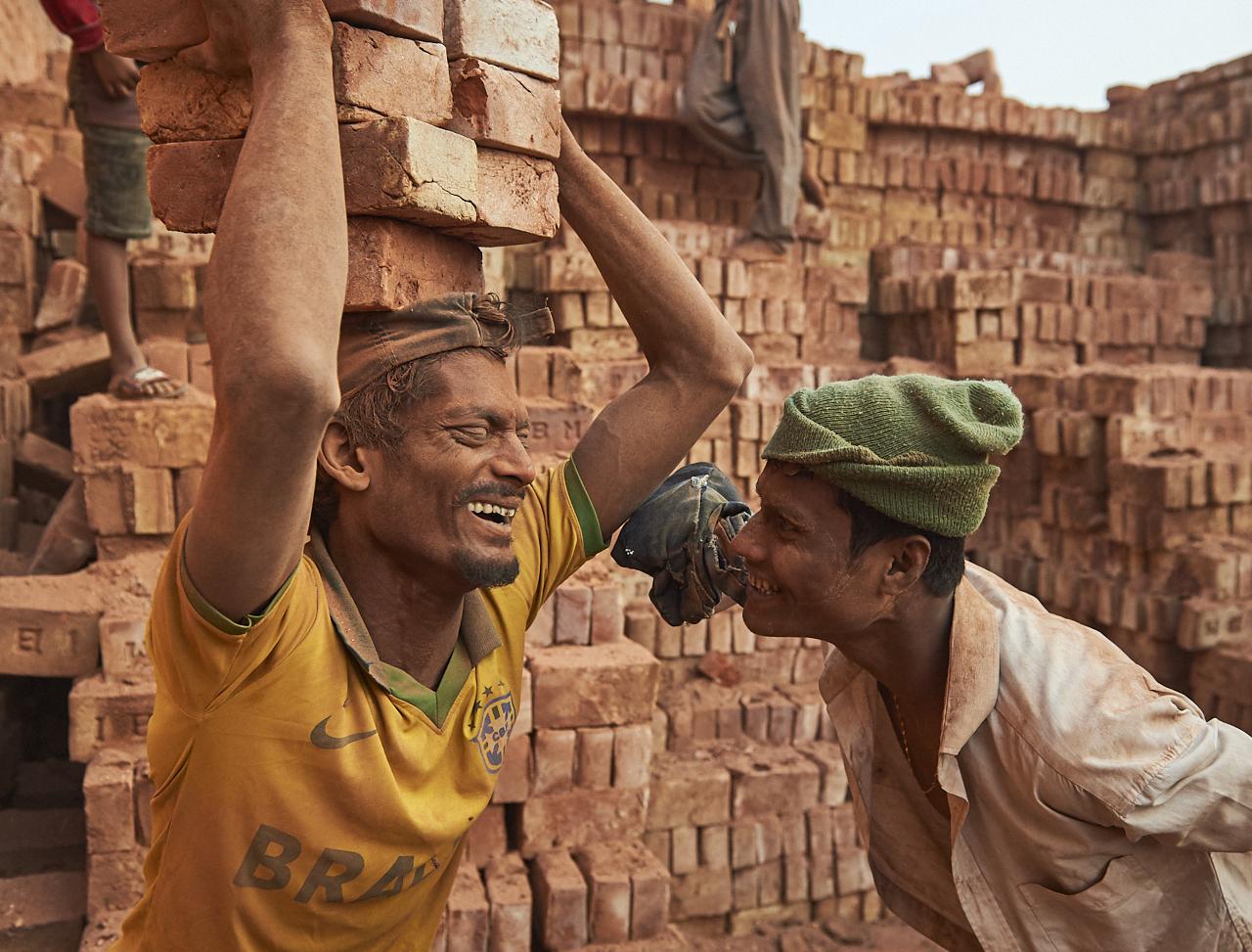 Brick factory workers, Dhaka