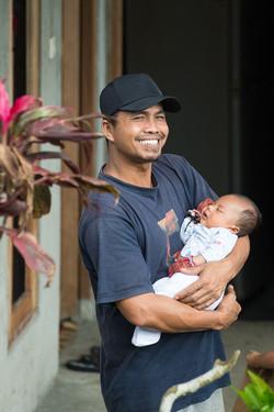 Proud dad, east Bali