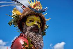 Huli man from Hela, Mount Hagen show