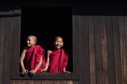 Novices, Bagan, Myanmar
