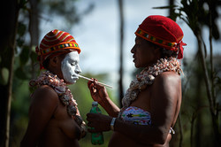 Getting ready for Mount Hagen show