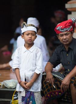 Young pilgrim, Tirta Empul