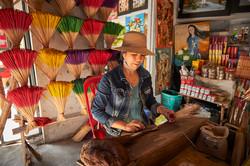 Incense worker, Tu Duc tomb, Hue