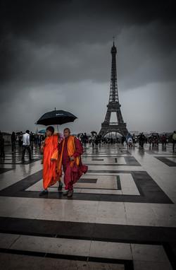 Buddhist monks, Trocadero