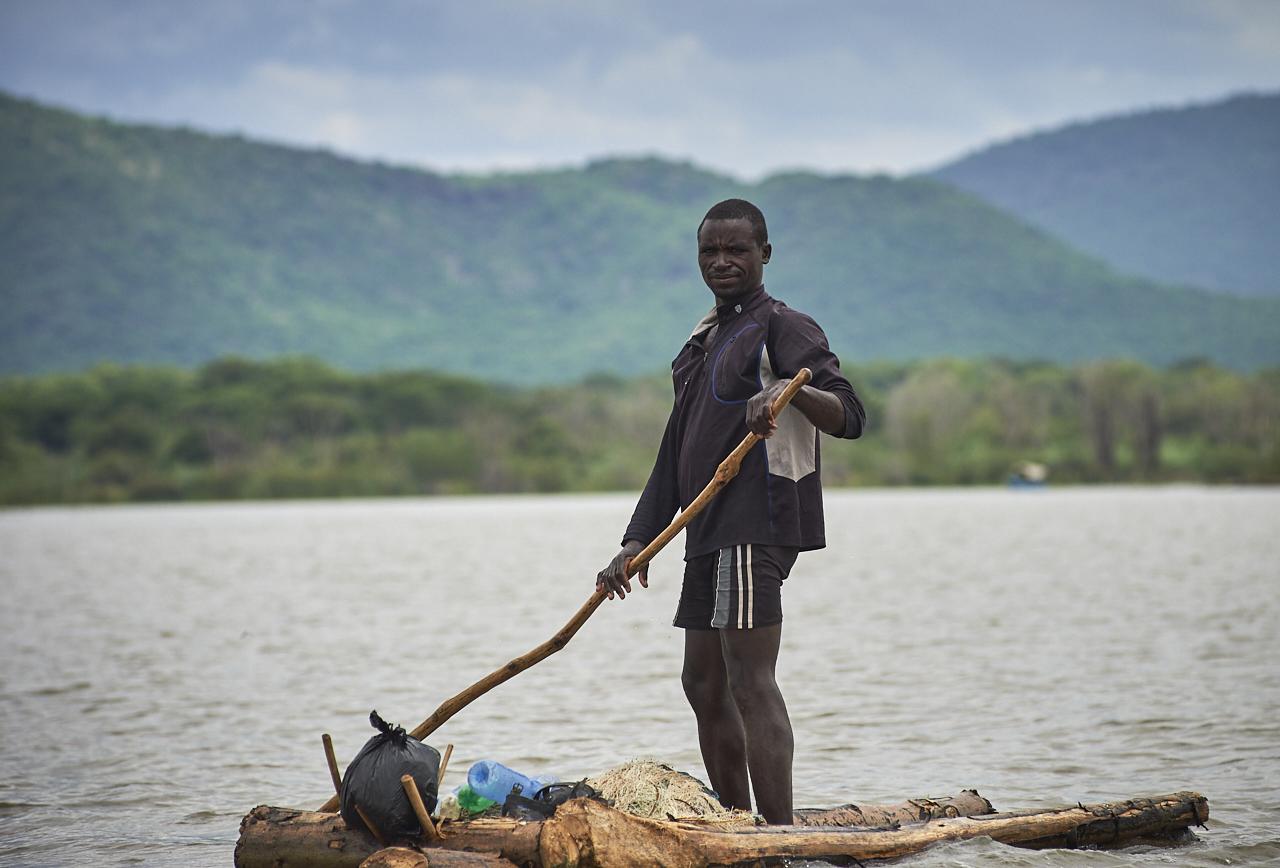 Fisherman, Chamo lake, Arba Minch