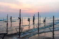 Stilt fishermen, Ahangama beach