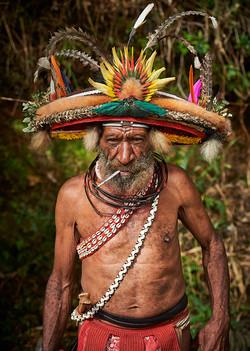 Huli old man