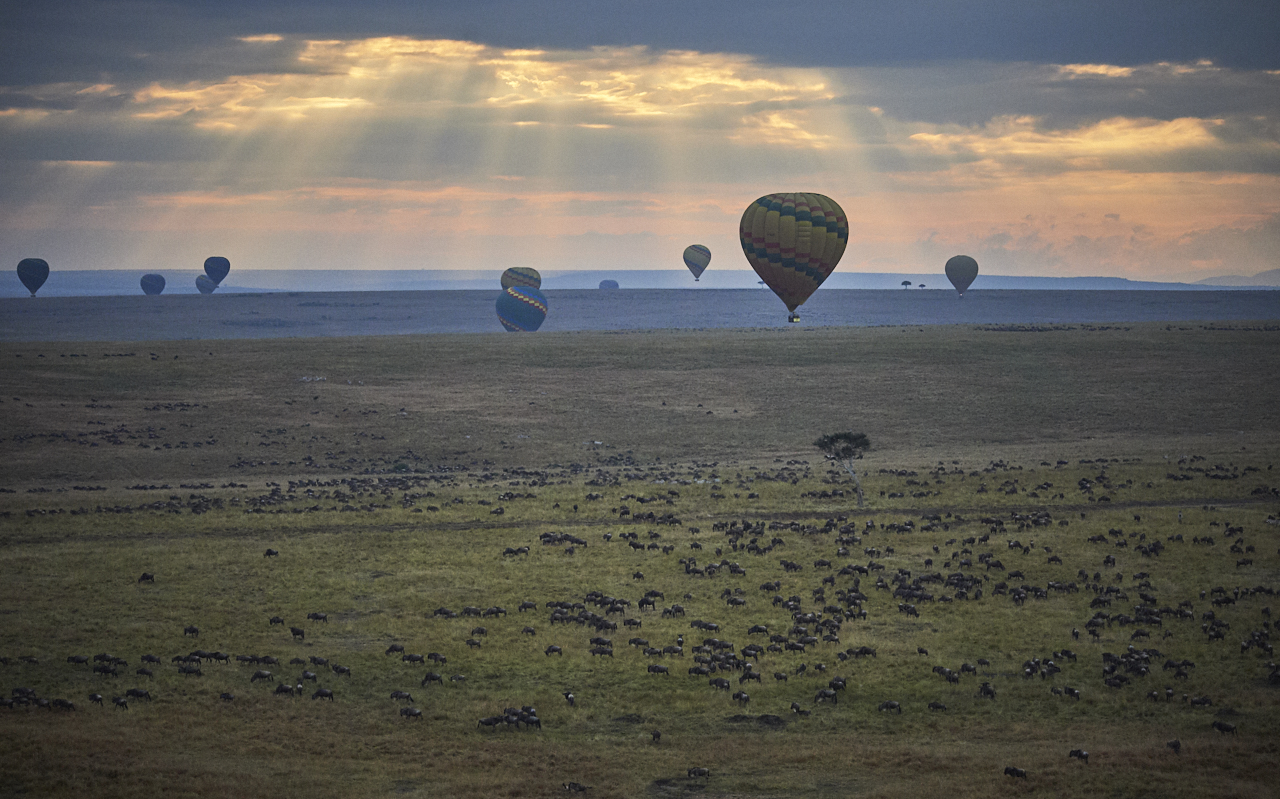 Sunrise over Masai Mara Park