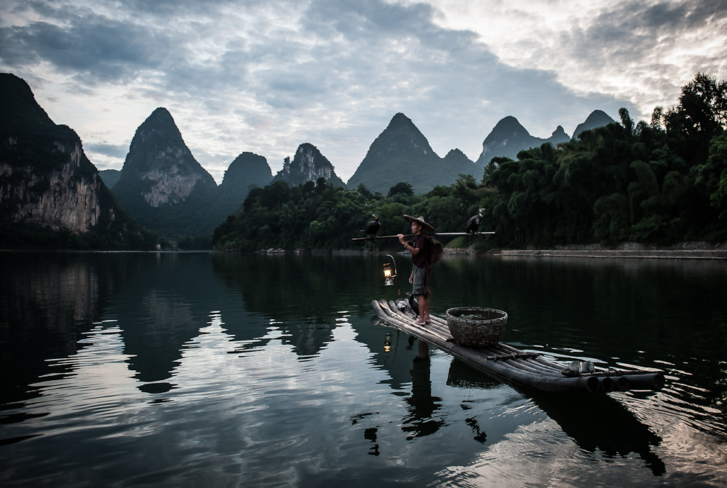 Cormorant fishing - Yangshuo, China