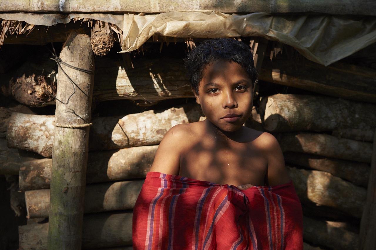 Girl in potter village, Barisal