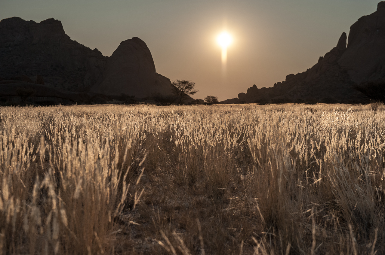 Sunset at Spitzkoppe mountain