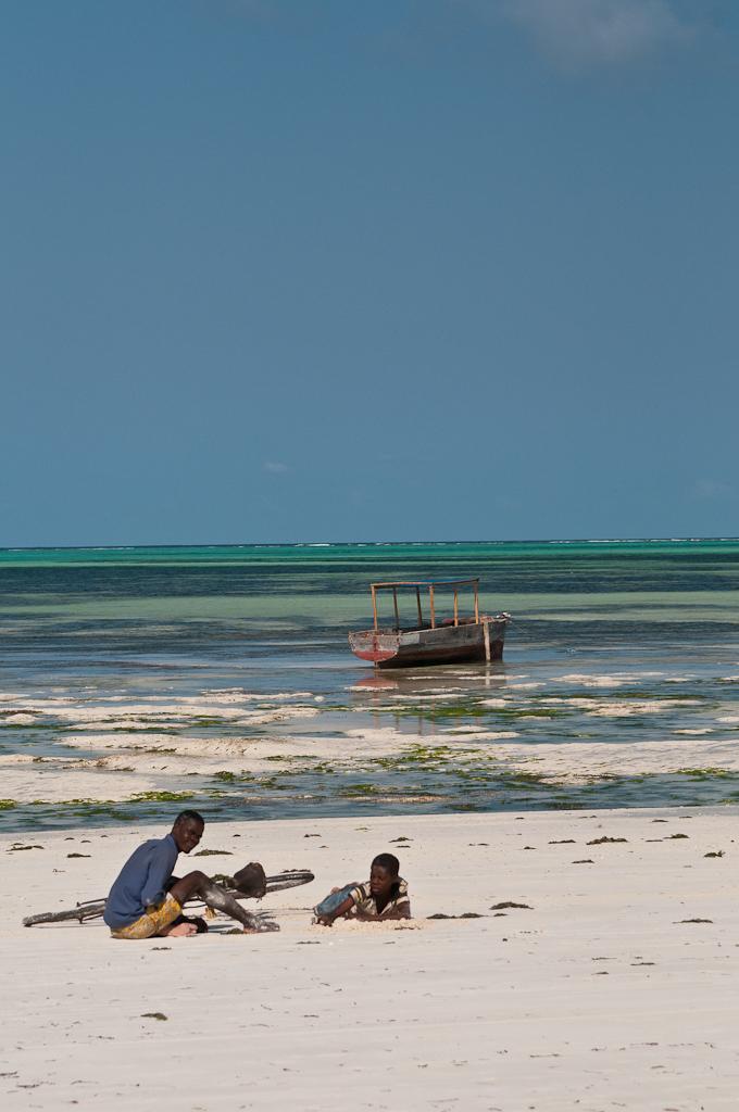 Kids playing, Paje beach