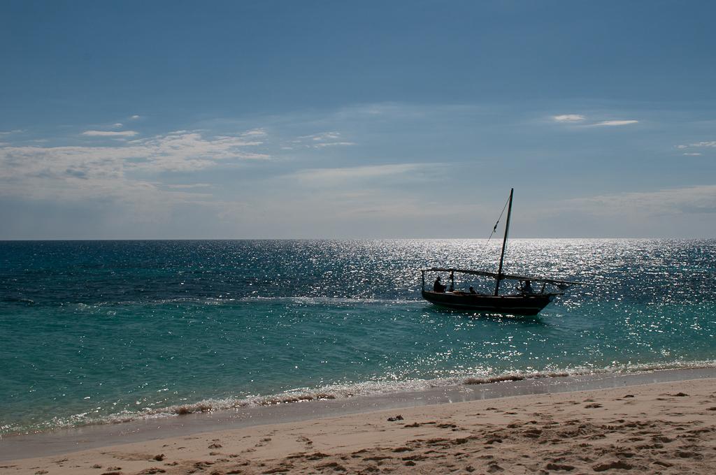 Boat at an atol
