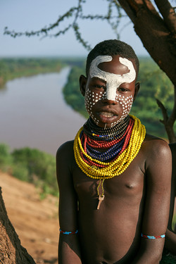 Kara child, Omo Valley, Ethiopia