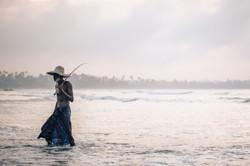 Father fisherman, Weligama beach
