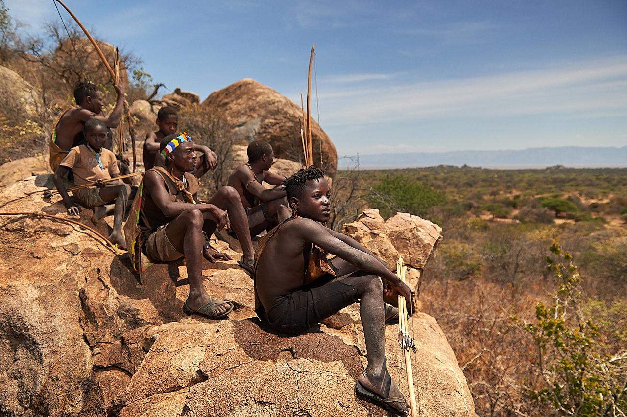 Hazabe hunters, Tanzania