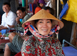 Fish market worker, Nha Trang