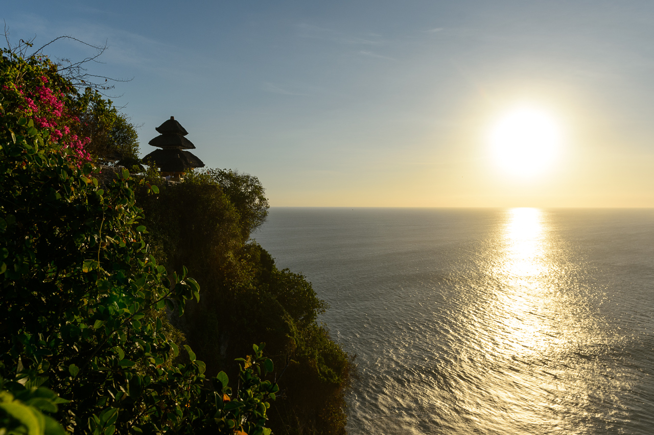 Sunset in Uluwatu temple