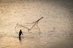 Fisherman, Polonnaruwa lake