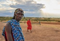 Masai man, Masai Mara Park