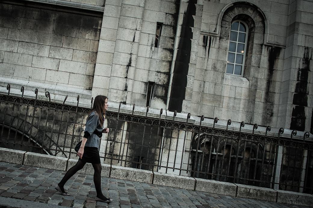 Girl walking, Montmartre