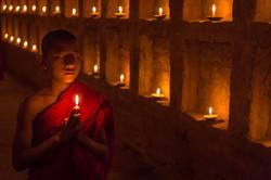 Novice praying