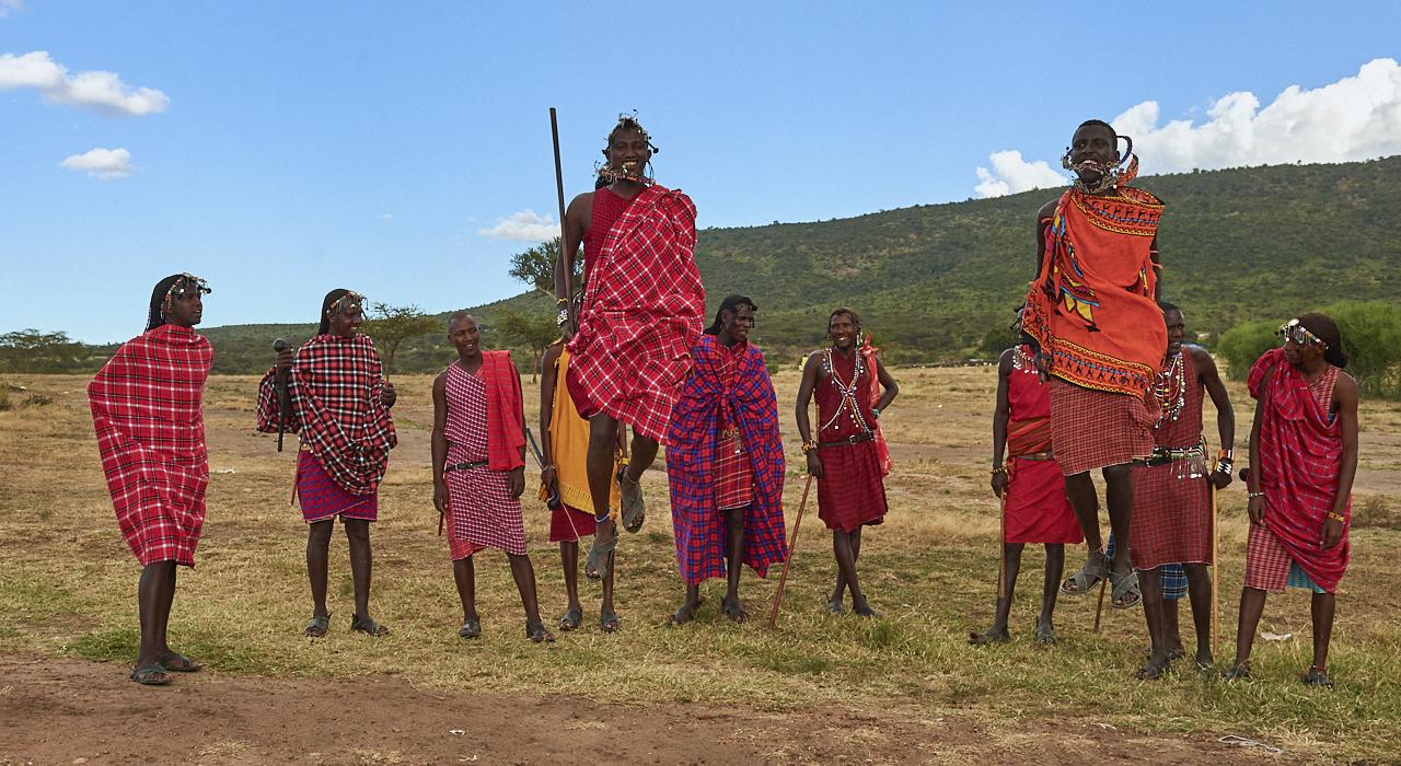 Masai dance, Masai Mara Park