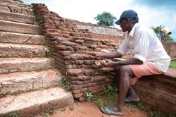 Maintenance worker, Sigiriya